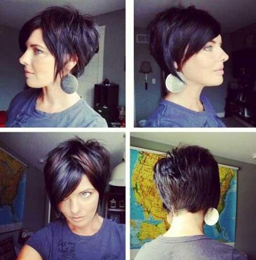 Short Dark Hair Styles for Women 2014