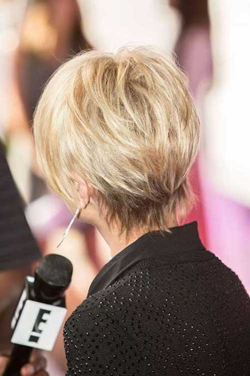 Short Hair Back View for 2015