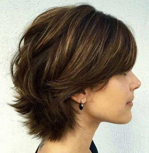 Short Layered Haircut Style 2014