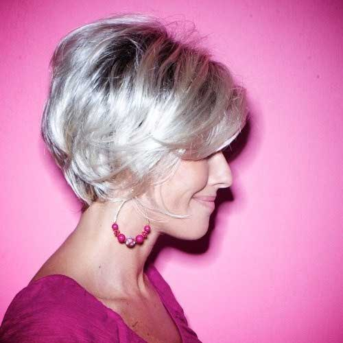Short Haircut Ideas for Older Ladies