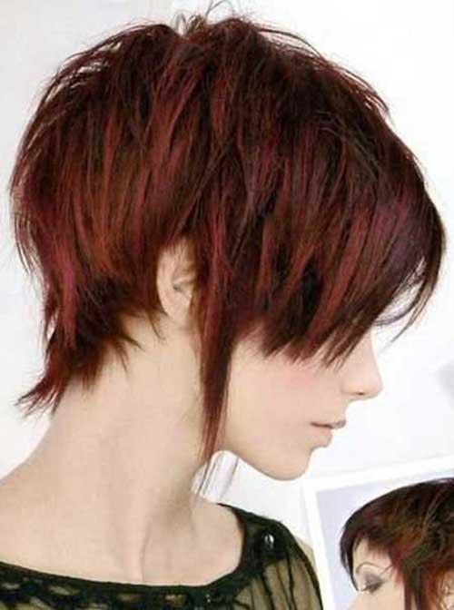 Short Haircuts for Dark Layered Hair Style