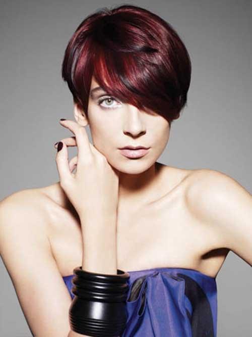 Short Haircuts for Dark Red Hair Ideas