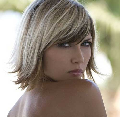 Short Haircuts for Fine Highlighted Hairstyles