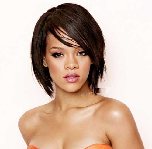 Short Haircuts for Thick Dark Bob Hair 2014