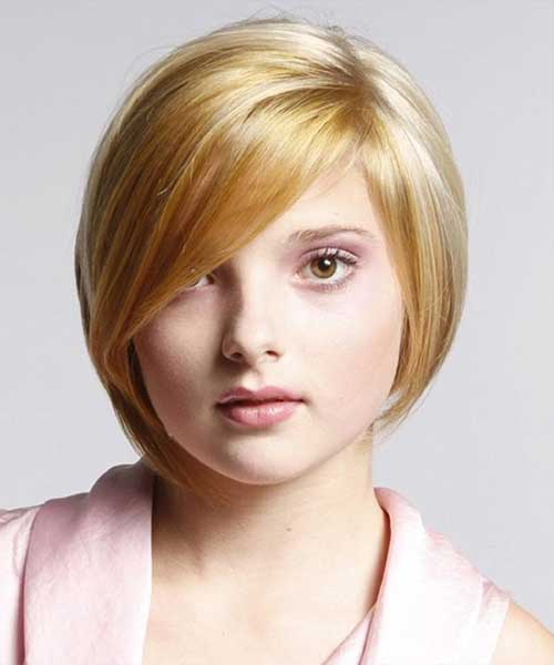 Short Bob Haircuts for Women with Round Faces