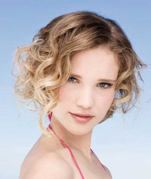 Short Hairstyles Ideas for Curly Hair Oval Face
