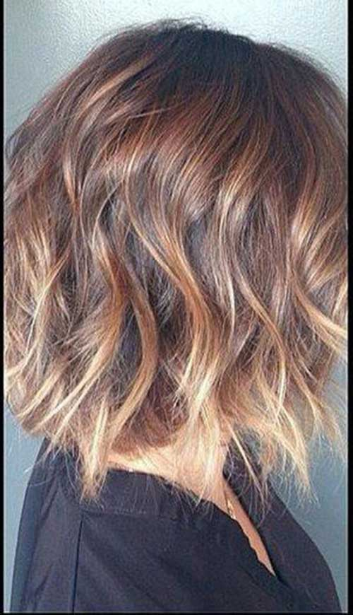 Short Hairstyles for Fine Wavy Ombre Hair