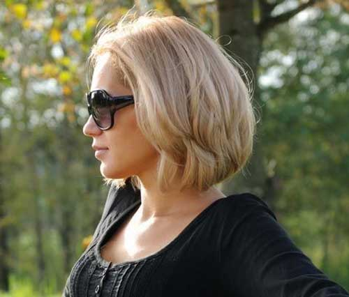 Blonde Short Hairstyles for Round Faces and Thick Hair