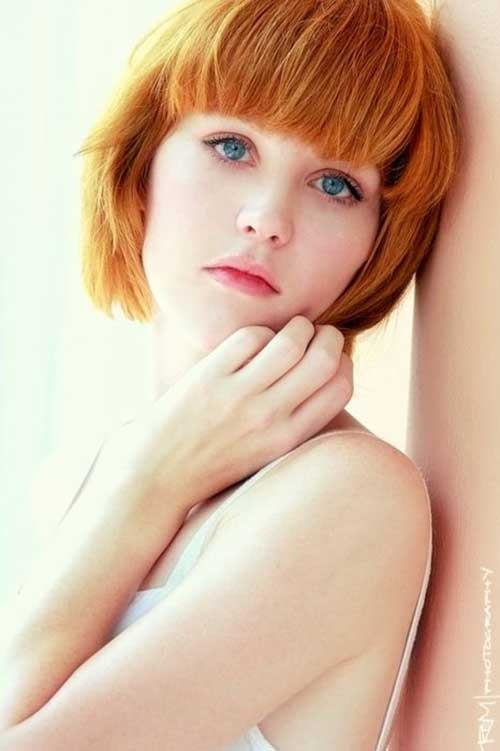 Short Hairstyles for Thick Hair with Bangs 2014