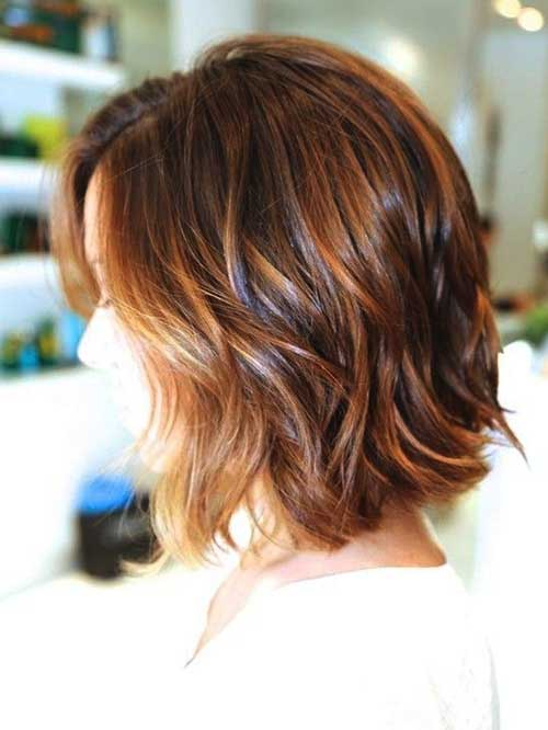 Short Hairstyles for Wavy Fine Hair Back View