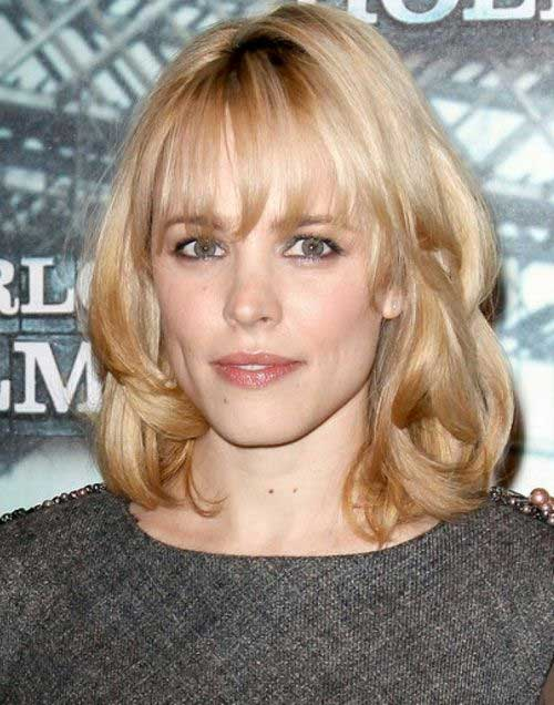 Short Hairstyles for Wavy Fine Hair with Bangs Ideas
