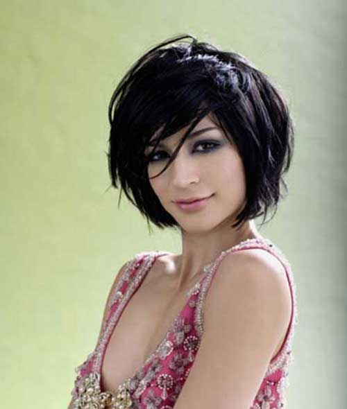 Short Hairstyles for Women with Thick Dark Hair