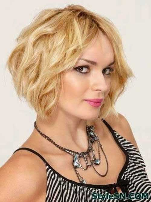 Short Layered Wavy Bob Hairstyles for Thick Hair