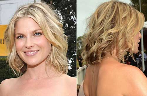 Short Layered Bob Hairstyles for Wavy Hair Back View