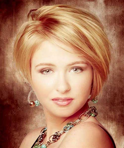 Best Short Layered Hair for Round Faces 2015