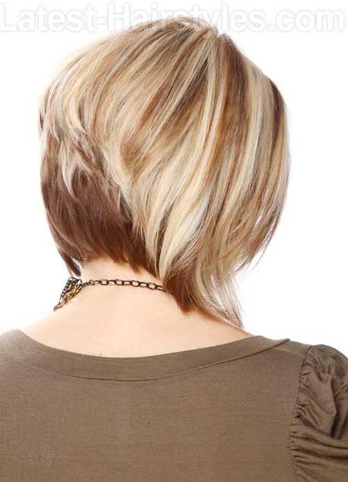 Short Layered Straight Bob Hair Back View