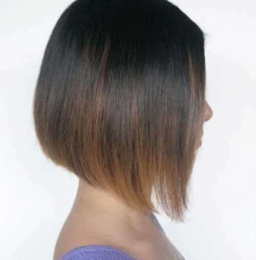 Short Line Bob Haircut Style 2014