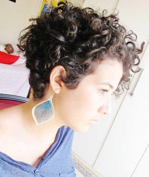Short Natural Dark Curly Hairstyles