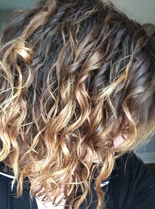 Short Natural Curly Ombre Hairstyles