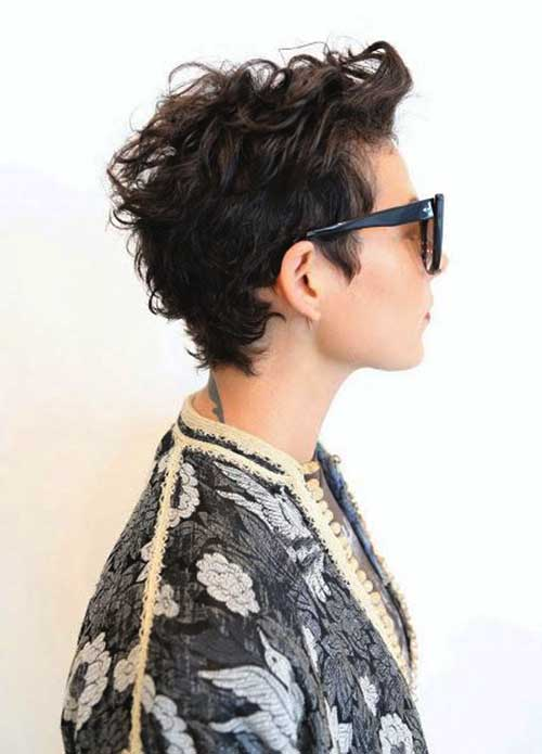 Short Natural Curly Pixie Hairstyles