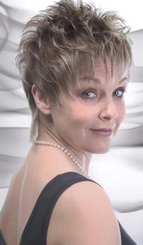 ... Hairstyles Older Women furthermore Short Spiky Hairstyles Back View as