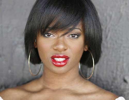 Short Straight Bob Hairstyles Ideas Black Women
