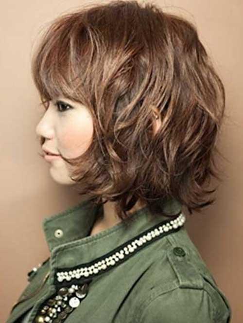 Short Wavy Hair for Cute Dark Brown Bob
