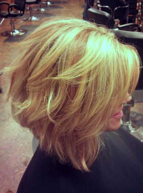 Short Wavy Blonde Hairstyles 2014