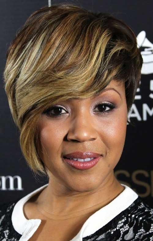 Short Weave Blonde Hairstyles for Black Women