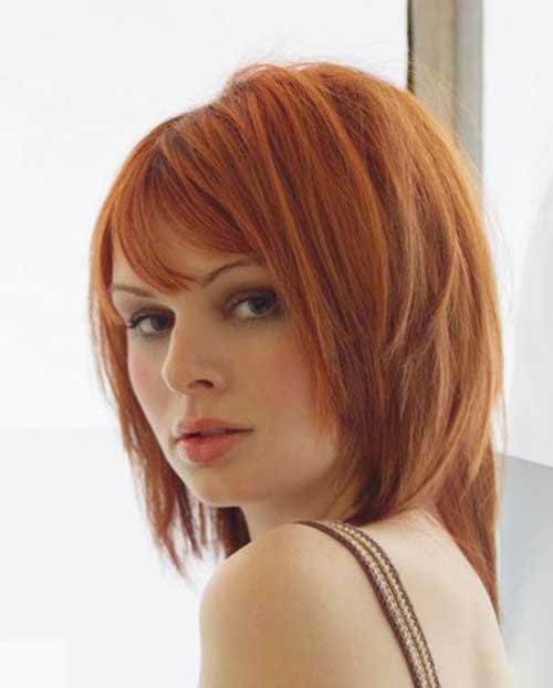 Short to Medium Cut Hairstyles for Thick Red Hair
