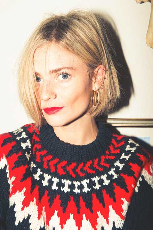 Simple and Cute Hairstyles for Short Blonde Bob Hair