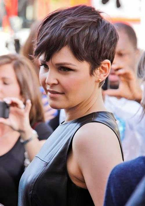 Simple and Cute Short Dark Pixie Cut Hair