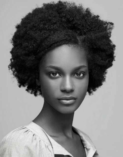 Thick Short Curly Afro Hairstyles for Black Women