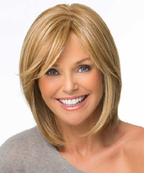 Trendy Bob Haircuts with Side Straight Bangs