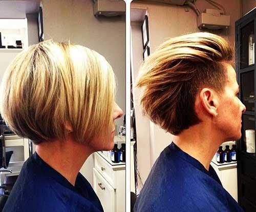 Undercut Blonde Bob Hair Side Look