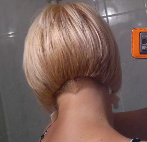 Undercut Bob Hairstyles Back