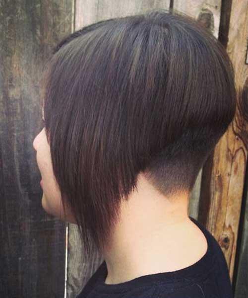 Undercut Short Dark Bob Haircuts