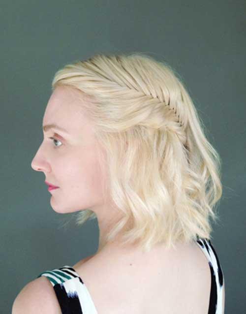 Updos Platin Blonde Bob Hair Style