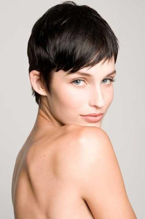 Very Short Female Dark Hair