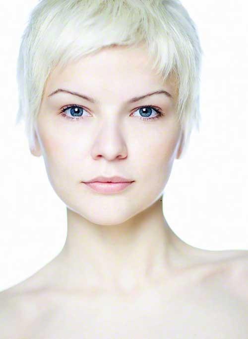 Very Short Platinum Blonde Hair Styles Female