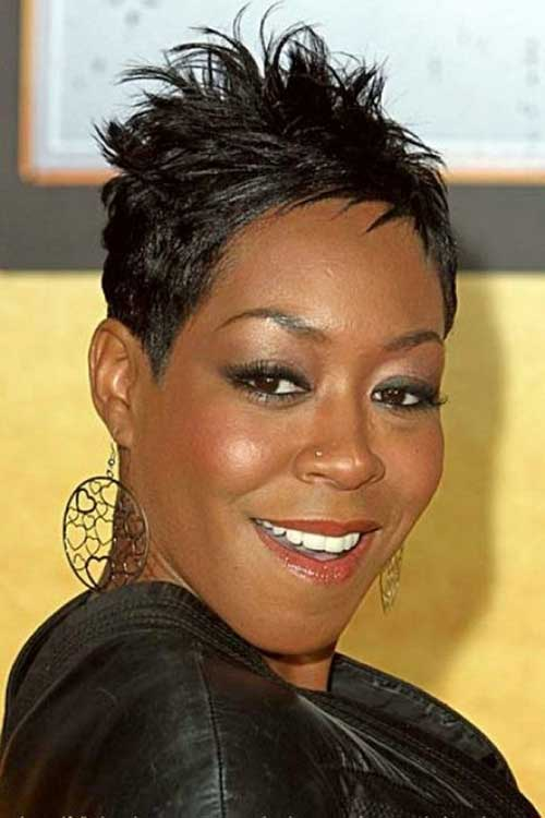 Very Short Spiky Hairstyles for Black Women