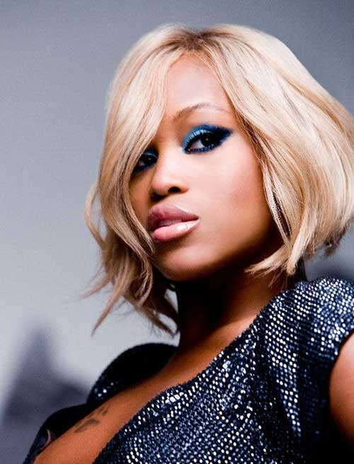 Wavy Blonde Bob Cut for Black Girls