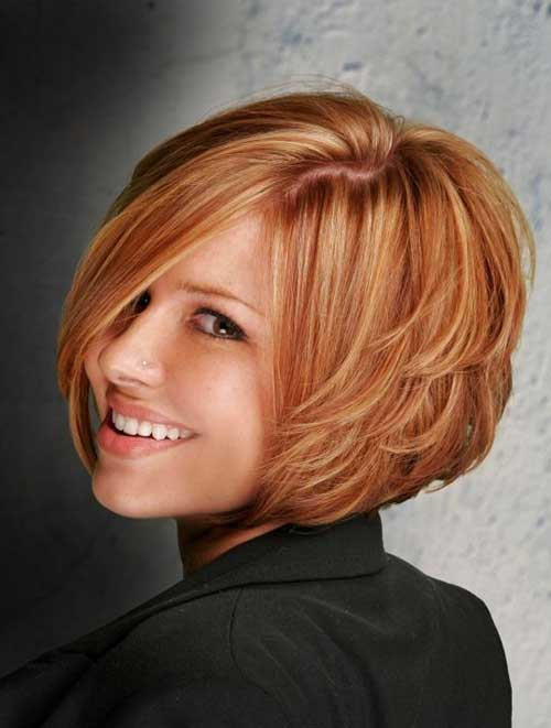 Womens Layered Bob Hairstyles Back 2014