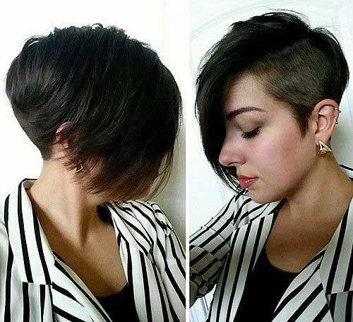Brunette Pixie Cut-10