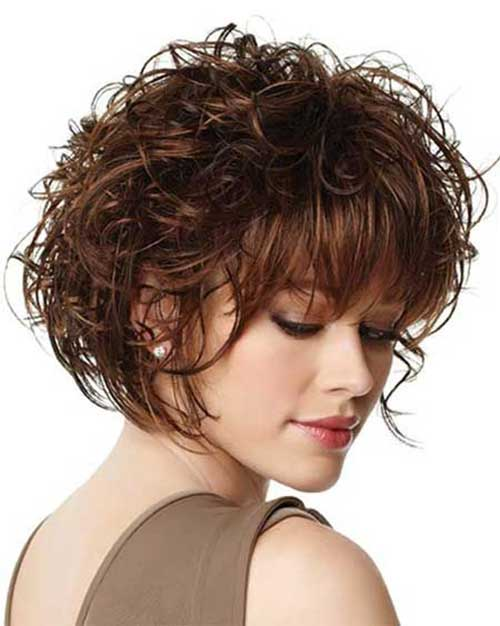 Short Curly Hair with Bangs-11