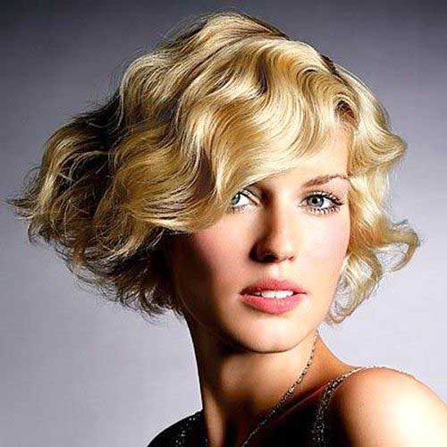Hairstyles for Short Wavy Hair-15