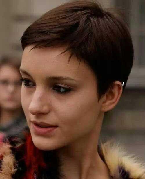 Brunette Pixie Cut-17