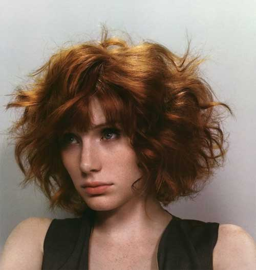 Hairstyles for Short Wavy Hair-18