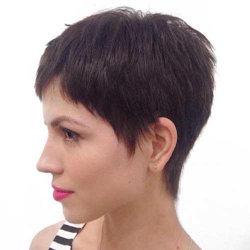 Brunette Pixie Cut-7