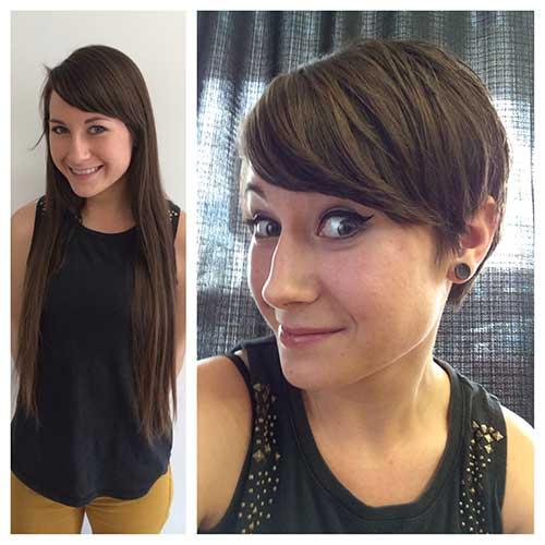 Brunette Pixie Cuts